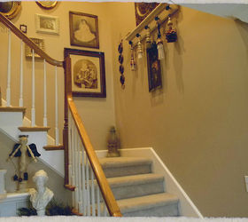 My Stairwell With Painted Scallops And New Wainscoting, Painting,  Woodworking Projects, My BEFORE