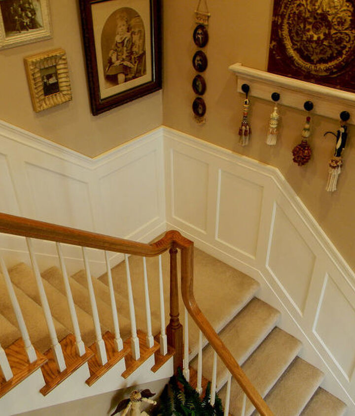 My stairwell new wainscoting.