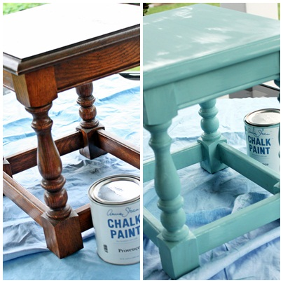 q have you ever stenciled furniture my little table makeover is so darn cute thanks, painted furniture