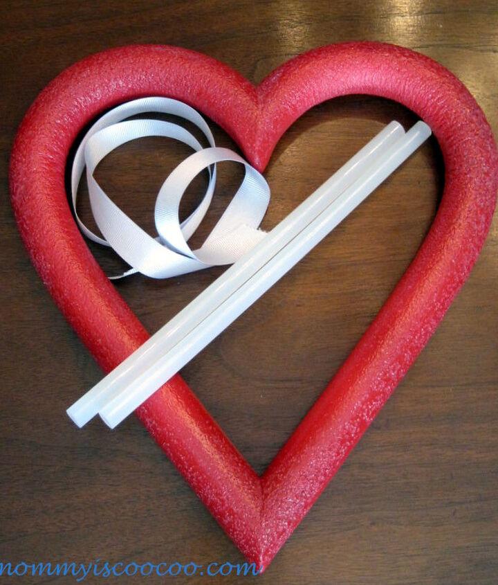 Valentine Ornament Styrofoam Heart Wreath