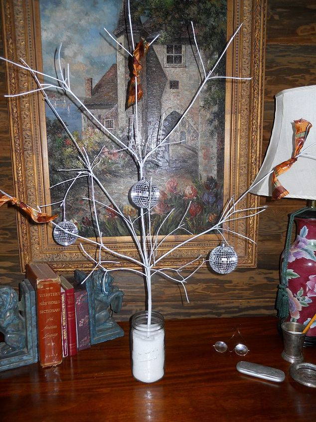 i am so hoping that you enjoy and benefit from these budget holiday decor ideas i, seasonal holiday decor, I trimmed this branch off of a tree sprayed it white and put it in a Ball Mason jar with Epson Salt