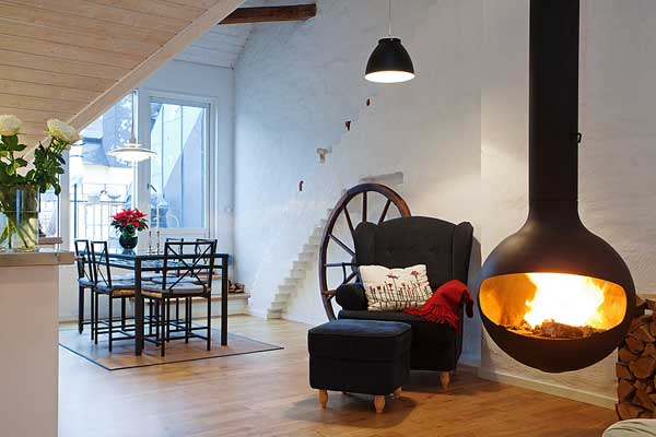 beautiful stockholm penthouse, home decor