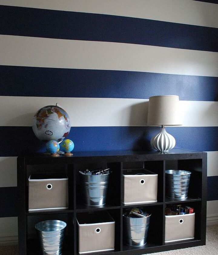 Enjoy your new striped walls!.