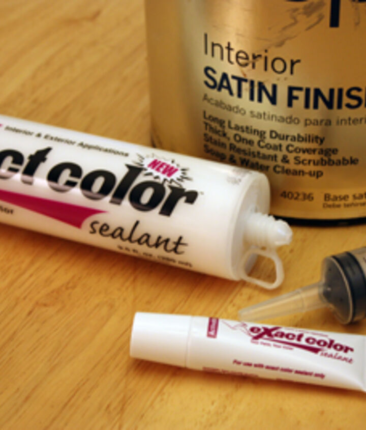 color matched caulking, home maintenance repairs