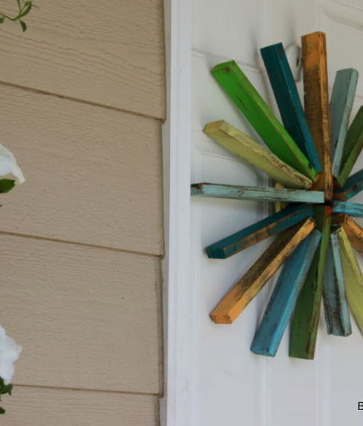 starburst wreath, crafts, outdoor living, woodworking projects, wreaths