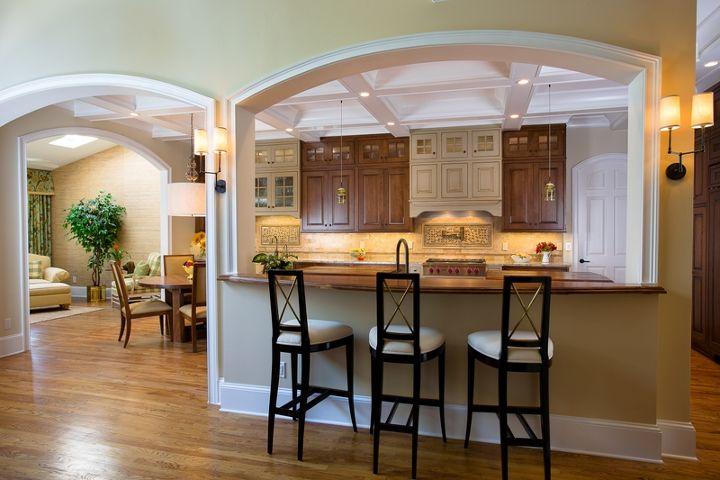beautiful two tone kitchen, countertops, hardwood floors, kitchen backsplash, kitchen cabinets, kitchen design, kitchen island