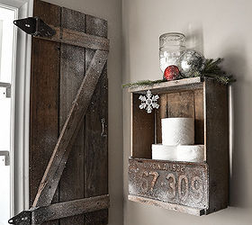 Warm Up Your Windows With An Instant Barn Wood Shutter, Bathroom Ideas, Diy,