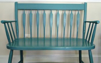 craigslist bench transformation with diy chalk paint, chalk paint, painted furniture, Here it is after DIY Chalk Paint a couple of coats of water based wipe on Poly