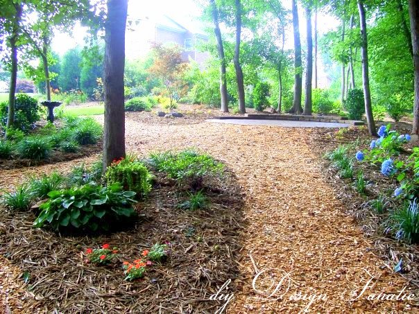 backyard oasis, curb appeal, landscape, patio, The path coming up from the creek in our backyard