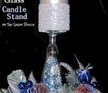 diy glass candle stands, crafts