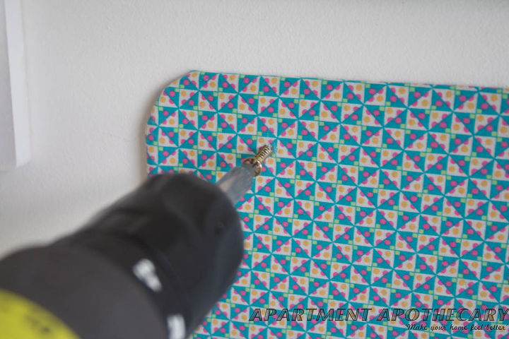 Or you can drill the board straight into the wall. Finished!