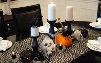 Halloween Dining Room With Dollar Tree Decorations