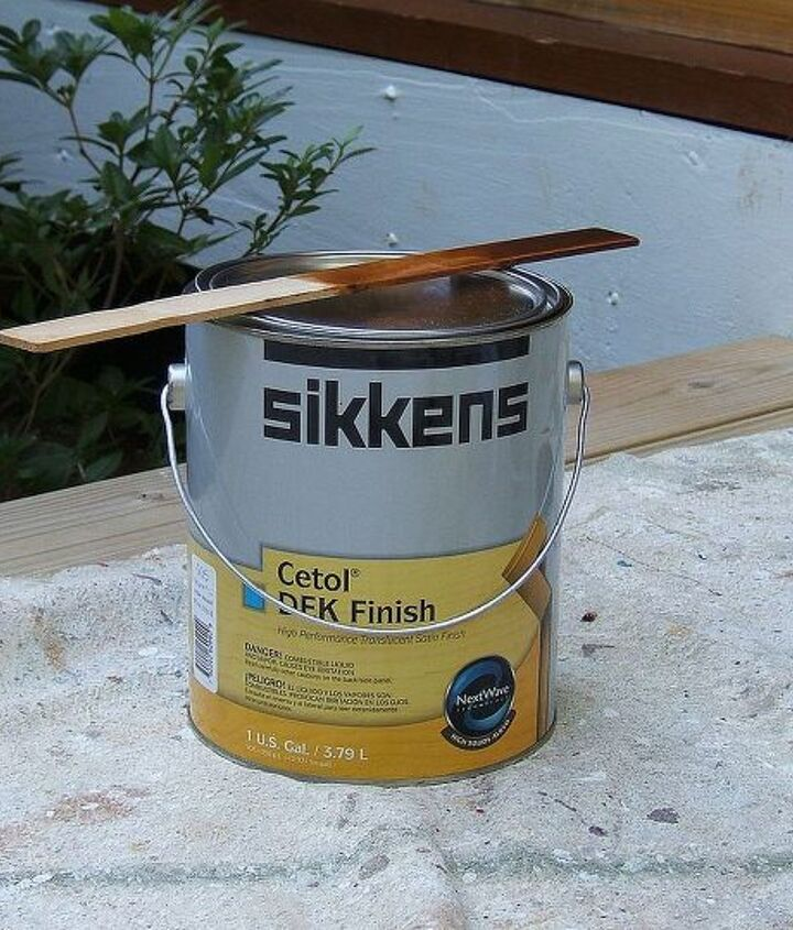 My carpet cleaner told me about this wonderful product! It is an amazing stain that lasts for years. I have not been compensated by Sikkens for this post. This is a quality stain that costs approximately $85 per gallon.