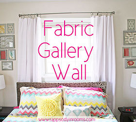 How To Make A Fabric Gallery Wall, Bedroom Ideas, Crafts, Home Decor,