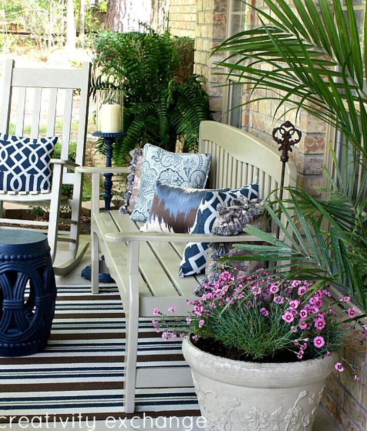 I transformed my front porch with a can of spray paint in a gorgeous neutral color.