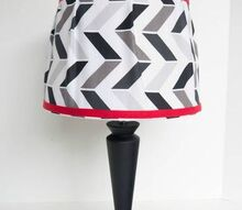 great tutorial on how to cover a lampshade with fabric, crafts, lighting, repurposing upcycling, reupholster, window treatments