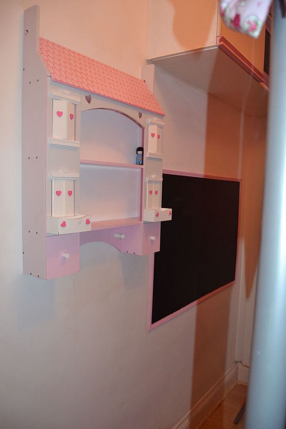 Blackboard paint straight onto the wall with beading as a frame House..£25 - Ebay