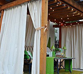 Marvelous Drop Cloth Curtains Patio Makeover, Home Decor, Outdoor Living, Patio,  Reupholster,
