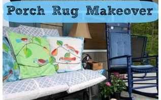 diy painted porch rug, crafts, flooring, painting, porches