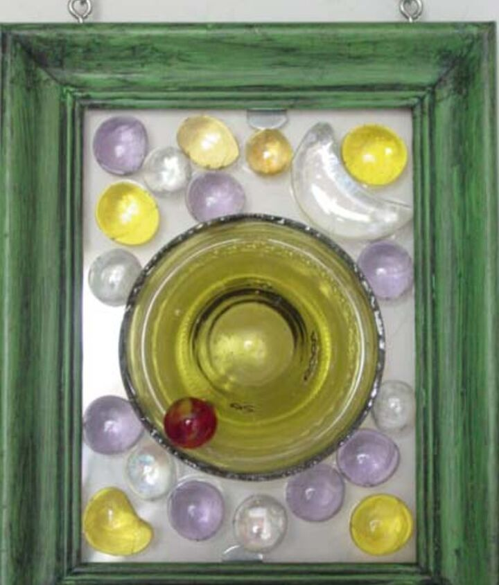 """cut off bottle bottoms n used picture frames, marbles, nuggets etc Dalle D Verre """"Bottoms Up"""" Upcylcing Stain Glass Feel"""