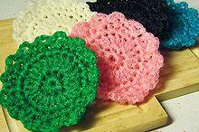 crocheted dish scrubbie pattern, crafts