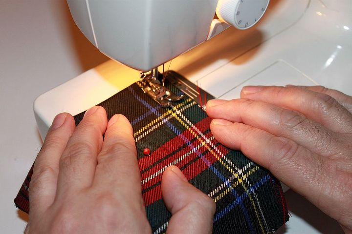 I sewed easy 4 inch bags leaving a 2 inch hole....
