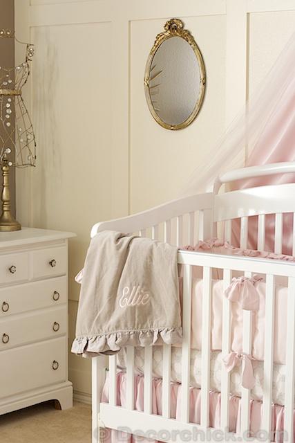 Pink Grey And Gold Vintage Nursery Makeover Hometalk - Pink and grey nursery decor