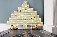 diy bead board christmas tree, crafts, seasonal holiday decor, DIY scrap wood Christmas tree