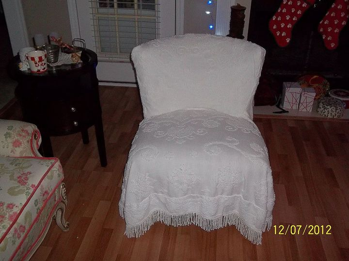 my first slipcover, home decor, reupholster