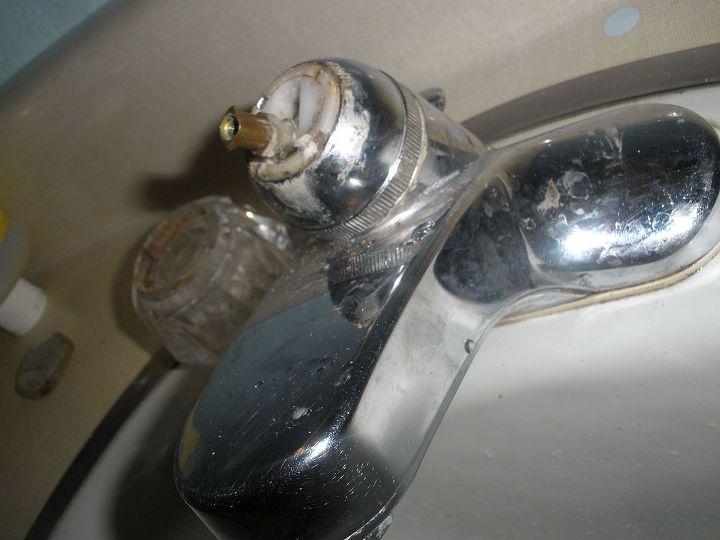q leaky ball top bathroom faucet, bathroom ideas, home maintenance repairs, how to, plumbing