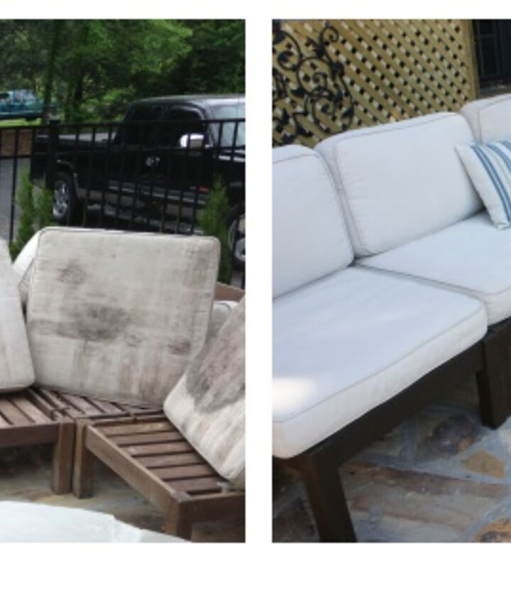 before and after outdoor furniture rehab