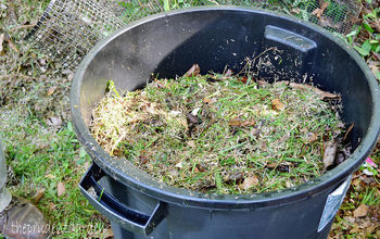 cheap diy compost tumbler, composting, gardening, go green