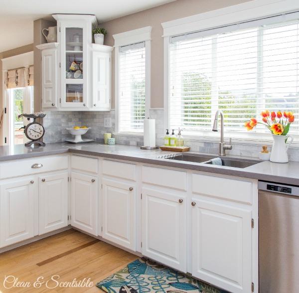 white kitchen reveal, home improvement, kitchen backsplash, kitchen design, painting