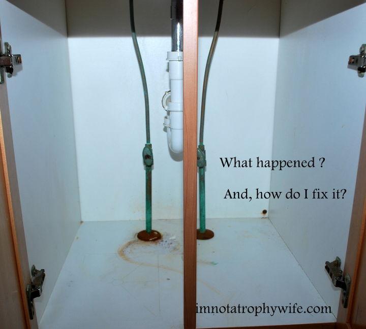 q ummm i think i have a problem under my bathroom sink, home maintenance repairs, plumbing