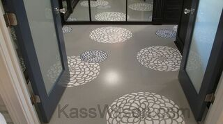 q floor stenciling, flooring, painting, Close up of design from Cutting Edge Stencils