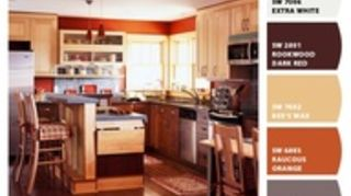 q paint color for small galley kitchen oak cabinets flooring, home decor, kitchen backsplash, kitchen design, painting, Colors that I like for my kitchen and dining area but am not sure what colors I should use