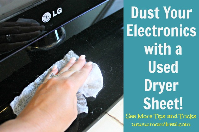 Dust Your Electronics with a Used Dryer Sheet!