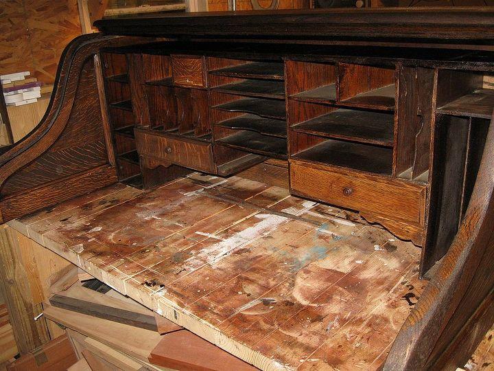 restoration of antique roll top desk, painted furniture, After installing  Birdcage - Restoration Of Antique Roll-Top Desk Hometalk