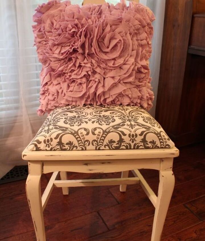 The After Chair, Fresh and updated fabric covered seat.