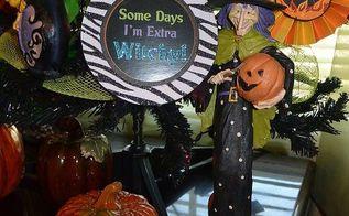 halloween christmas tree diy ornaments, crafts, halloween decorations, seasonal holiday decor