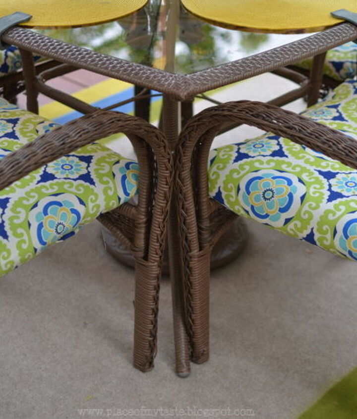 uphholstered patio furniture, outdoor furniture, outdoor living, painted furniture