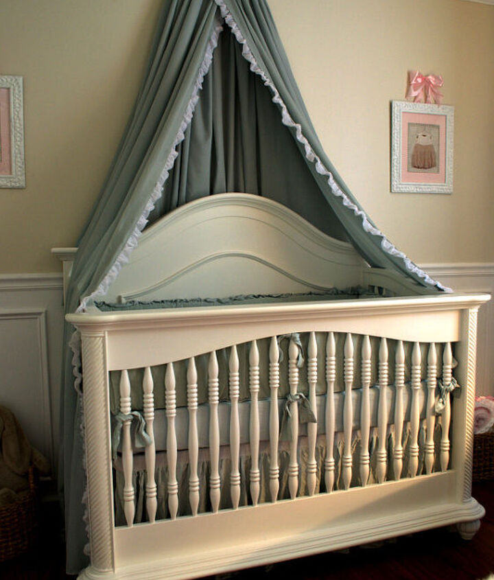 DIY Bed Crown and Canopy Tutorial
