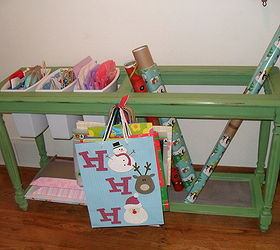 5 Sofa Table Becomes My Gift Wrap Storage System, Chalk Paint, Cleaning  Tips,