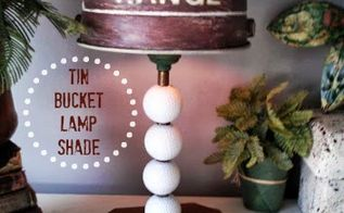 diy tin bucket to lampshade, lighting, repurposing upcycling, Tin Bucket Lamp Shade