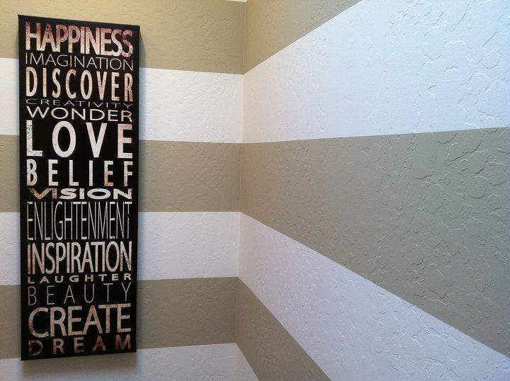 horizonatal hallway stripes, home decor, painting, wall decor