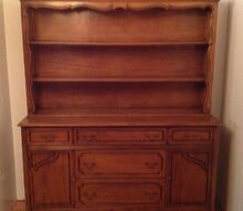 this was left in the house we bought so i have no problem changing it, painted furniture, Old china hutch