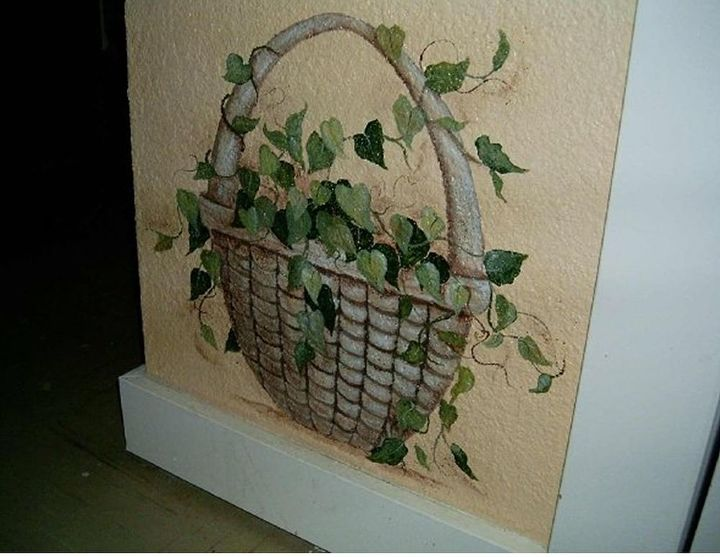 Stone Ivy Basket Mural by GranArt, https://www.etsy.com/shop/GranArt