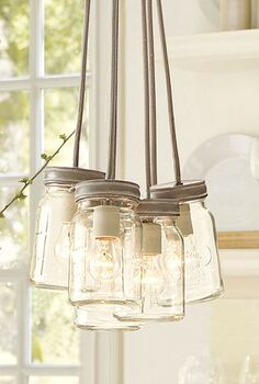 which style of mason jar lights is perfect for you, crafts, Exeter Pendant Mason Jar Lights via Pottery Barn