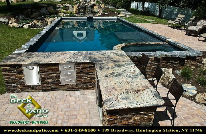 Gunite pool with auto cover, swim up bar, tanning shelf