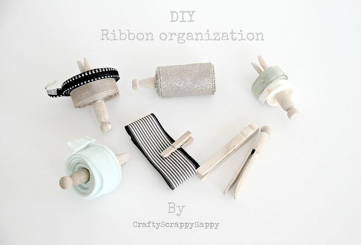 a simple organizing solution for craft supplies, organizing